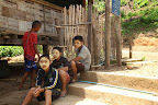 Children from Mwe Kwee village taking a break