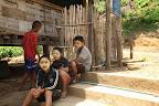 Children from Mwe Kwee village taking a break