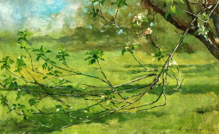 Theodore Robinson - Apple Blossoms