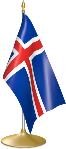 Icelandic table flags - desk flags