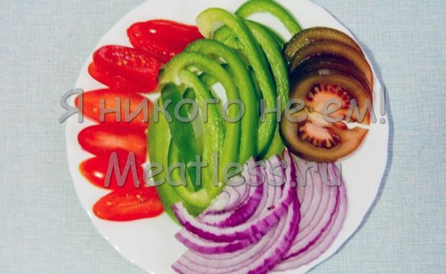 Баклажаны с овощами Лапы Дракона