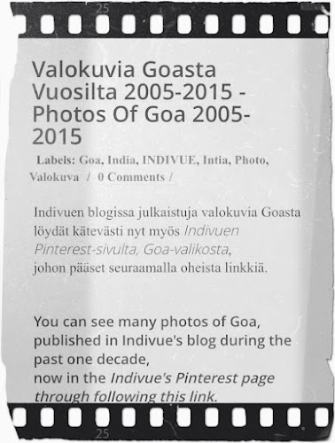 Valokuvia Goasta Indivuen Pinterest-sivulla