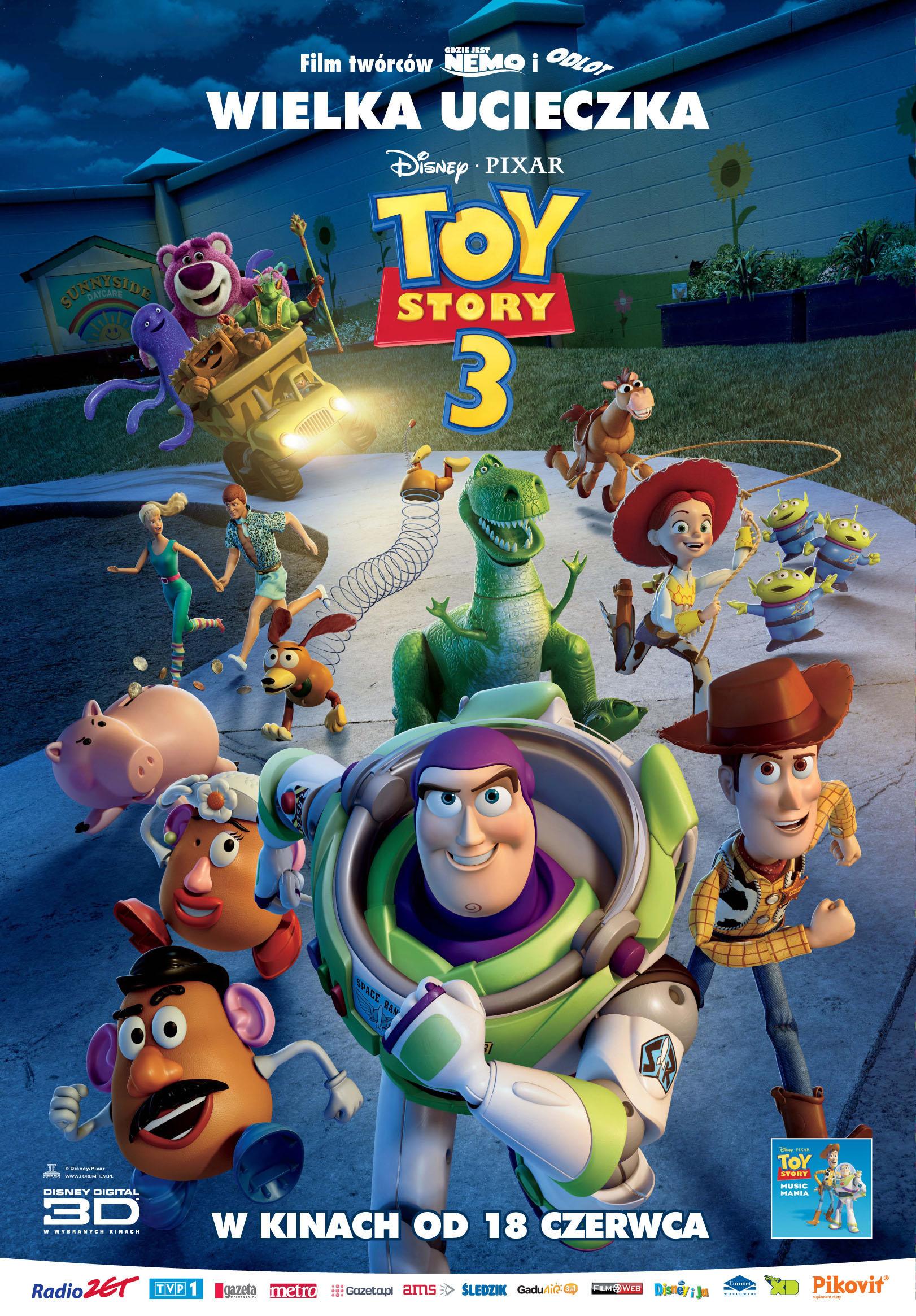 Polski plakat filmu 'Toy Story 3'