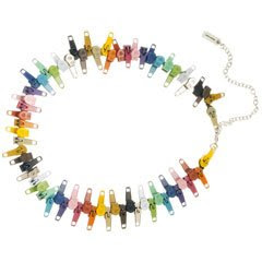 Marc By Marc Jacobs Rainbow Plated Brass Zipper Necklace