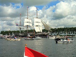 Photo: Klipper Stad Amsterdam met Willem Alexander aan boord