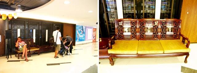 門口的候位椅子非常古早味-大大茶樓台中港式飲茶