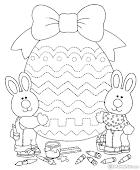 Huevos de Pascua para Imprimir, Delinear, Pintar y Colorear