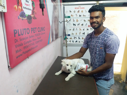 Raju Dhan with his dog mellissa