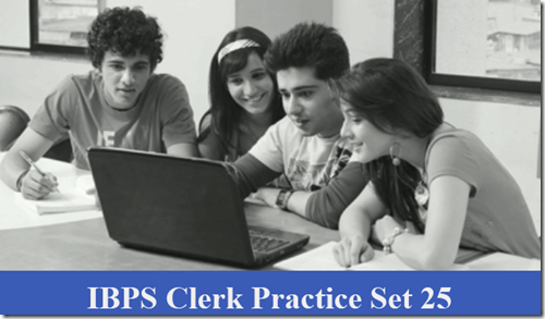 IBPS Clerk Preliminary Question paper PDF Set 25 Download
