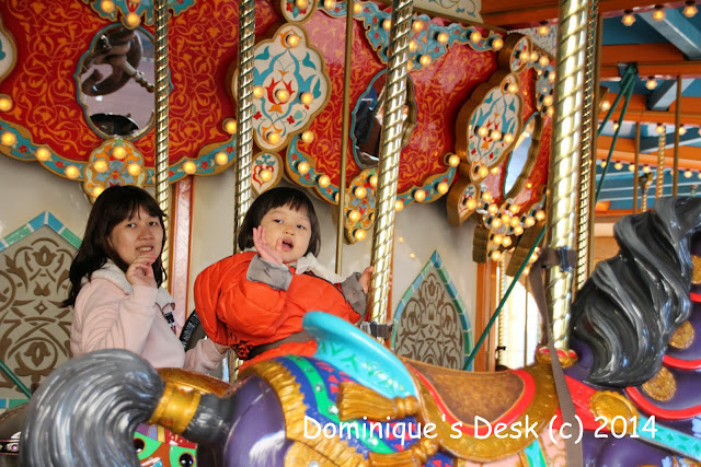 Tiger girl and me on the Caravan Carousel
