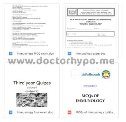 بنك اسئلة مناعة pdf