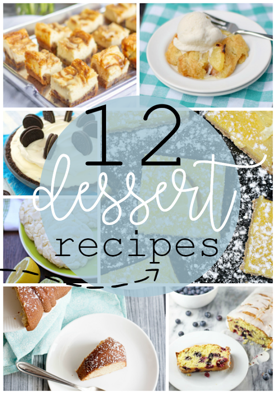 12 Dessert Recipes at GingerSnapCrafts.com #dessert #recipe #recipeoftheday