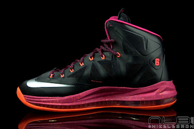 lebron10 floridians 30 web black The Showcase: Nike LeBron X Miami Floridians Throwback