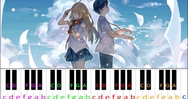 Hikaru Nara Shigatsu Wa Kimi No Uso Op1 Hard Version Piano Letter Notes