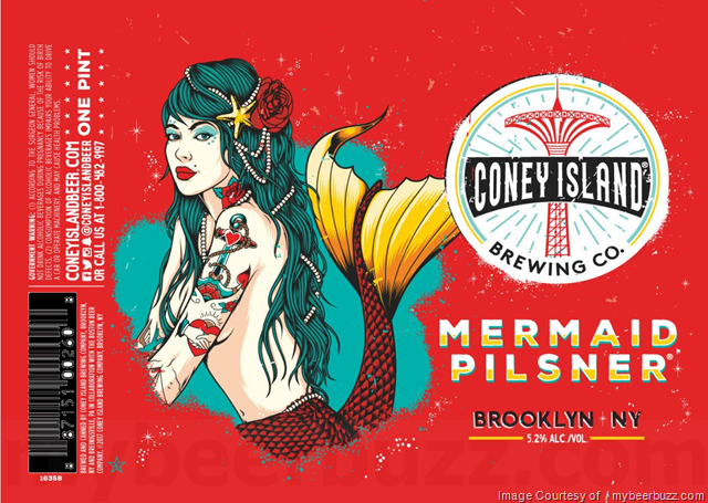 Cnoey Island Mermaid Pilsner 16oz cans