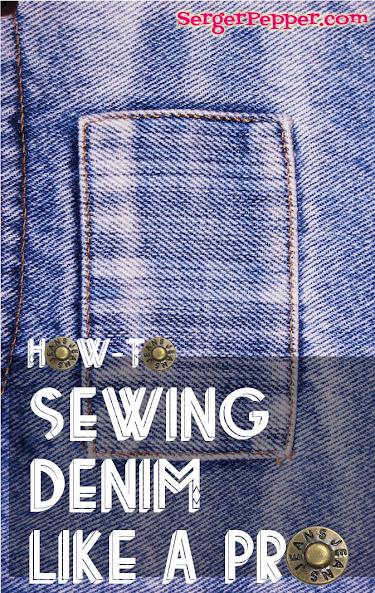 Serger Pepper - Sewing Denim like a Pro - title