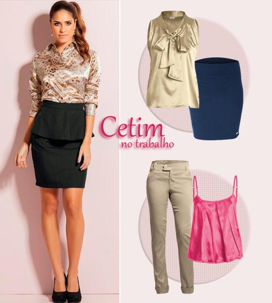 Looks de Trabalho com Cetim!