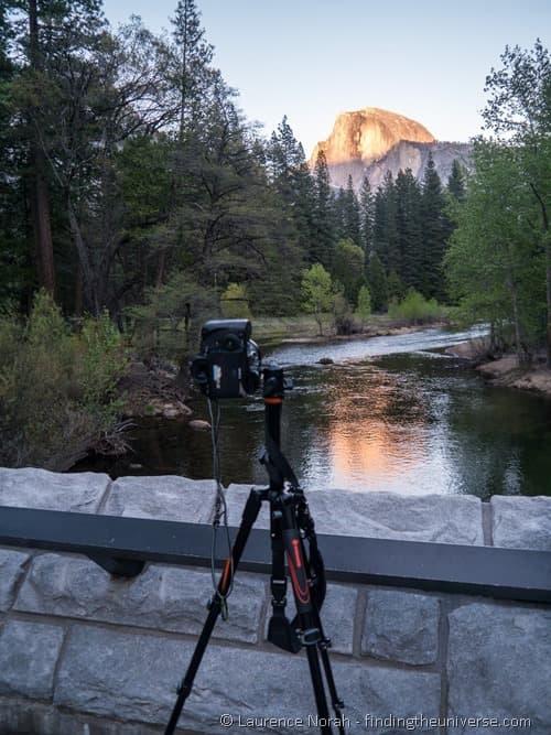 Vanguard VEO tripod picture Yosemite half dome sunset