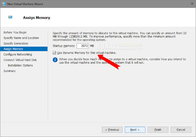 Assign the Virtual Memory to your VM (www.kunal-chowdhury.com)
