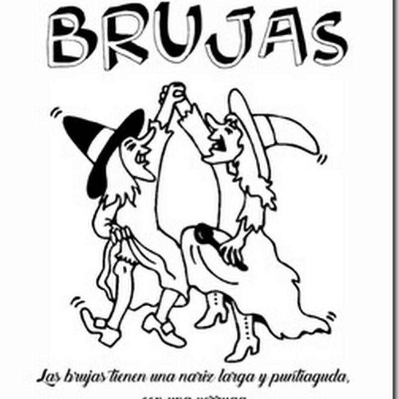 Colorear dibujos de brujas