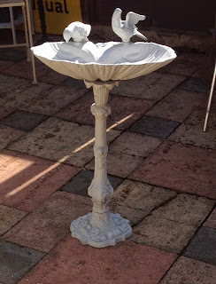 Large metal bird bath -£89.00