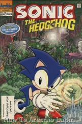 """Actualización 22/03/2018: Numero 38 por Tonyv444 para The Tails Archive. """"El resurgimiento de Robotropolis, La Caida de Sonic, con guión de Kent Taylor, lápices de Manny Galan y tintas de Phil Sheehy; Una confluencia de circunstancias amortigua la velocidad de Sonic; Él y los Freedom Fighters van en busca de los Magic Rings para restaurar su velocidad, pero caen en las manos de los Swatbots del Dr. Robotnik, lo que obliga a Sonic a tener que elegir entre salvar a sus amigos o restaurar su velocidad. Hora de dormir con Tails, con guión de Mike Kanterovich y Ken Penders, lápices de Ken Penders, tintas de Jon D'Agostino; Para entretener a un convaleciente Sonic, Tails le lee una historia del fan cómic cómico que escribió, una historia que suena sospechosamente como el origen de los Cuatro Fantásticos y su batalla contra Galactus, pero con Sonic y los Freedom Fighters como protagonistas."""