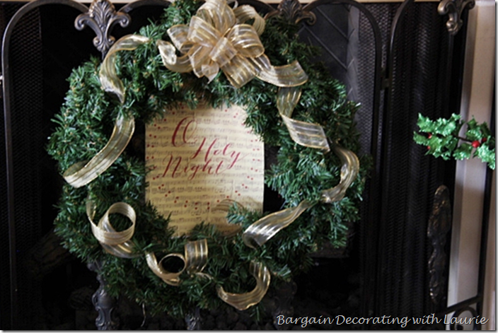Christmas Wreath on Fireplace Screen