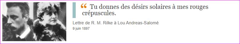 Lettre de R. M. Rilke