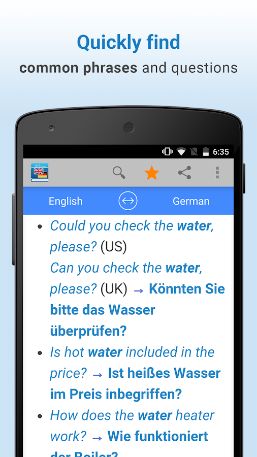 English-German Translation- screenshot