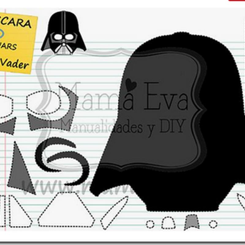 moldes Máscara star wars Darth Vader