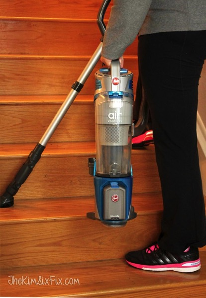 Cordless vacuum on stairs