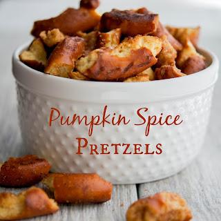 Pumpkin Spice Pretzels.
