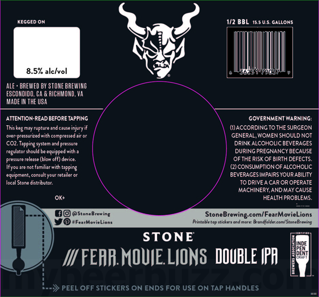 Stone Brewing - /// Fear.Movie.Lions DIPA
