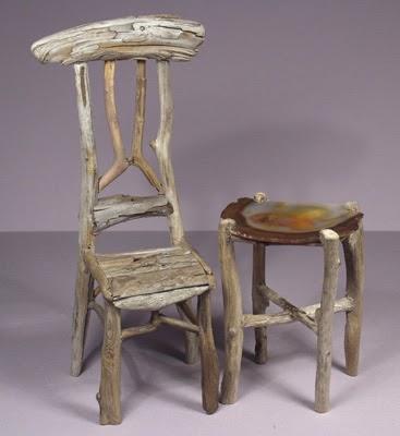 Miniature Rustic Twig Furniture By George C Clark A