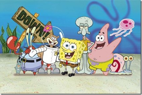spongbob-patrick-sandy-and-squidward-spongebob-squarepants-poster