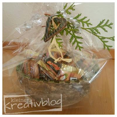 kleiner-kreativblog: getöpferte Schale als Präsent...