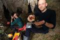 Cake and cheese, the staple diet underground | photo © Robbie Shone