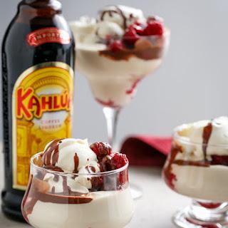 Creamy Kahlua + Raspberry Cheesecake Parfaits