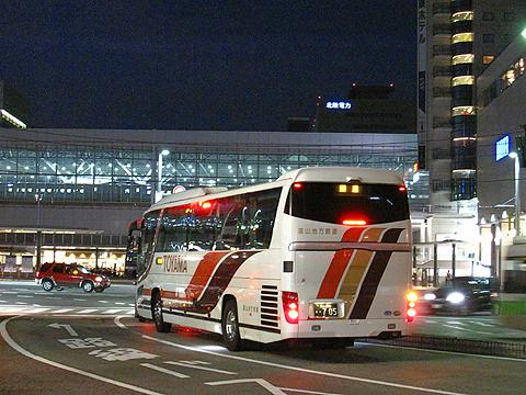 富山地方鉄道「富山東京線」 ・705富山駅前到着 その2