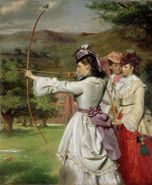 William Powell Frith - The Fair Toxophilites