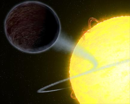 ilustração do exoplaneta WASP-12b