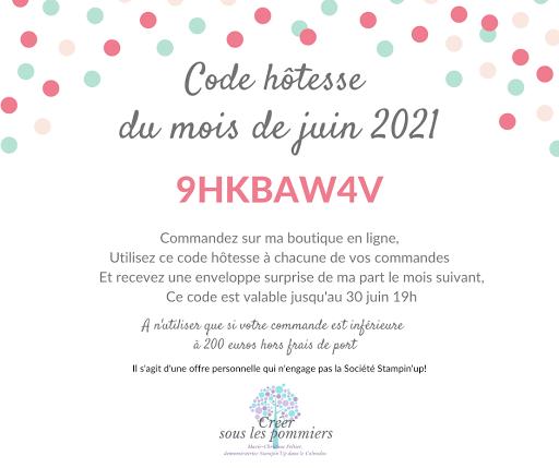 CODE HOTESSE MAI 2021