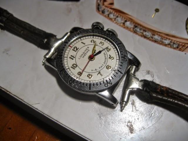 1935 LONGINES WEEMS ORIGINAL 1935 LEATHER METAL ROP STRAP - IMG_1001.JPG