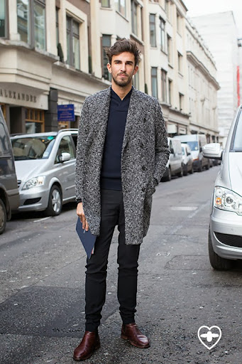 Teo van den Broeke; associate editor; Paul Smith coat; Woo Young Mi trousers; COS jumper; COS boots;