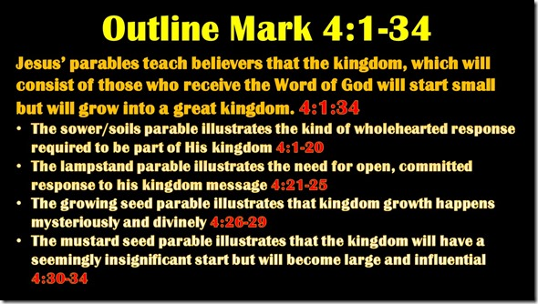 Mark 4.1-34 outline