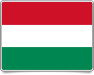 Hungarian framed flag icons with box shadow