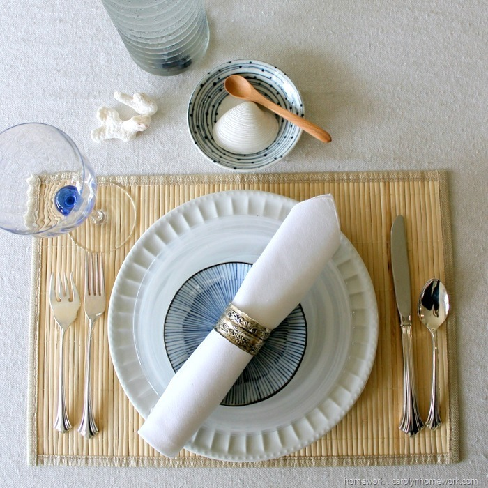 Summer Coastal Table Setting Faultless Starch by homework (1)2