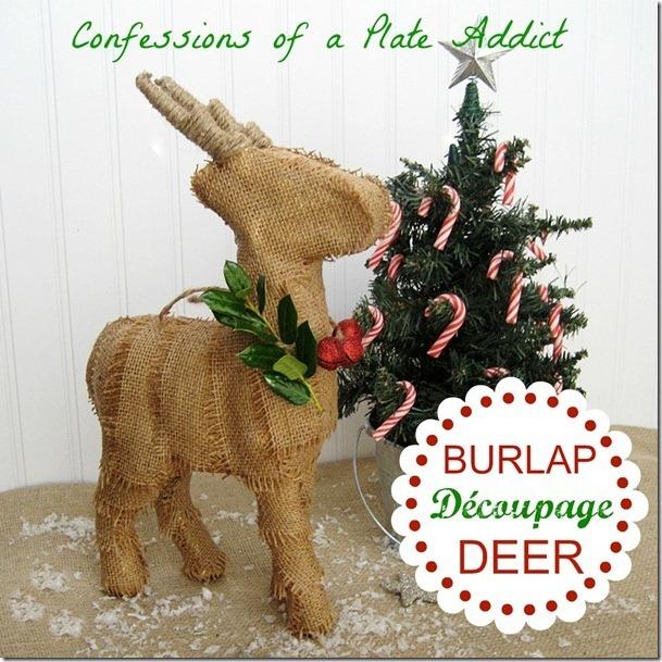 CONFESSIONS OF A PLATE ADDICT Burlap Découpage Deer