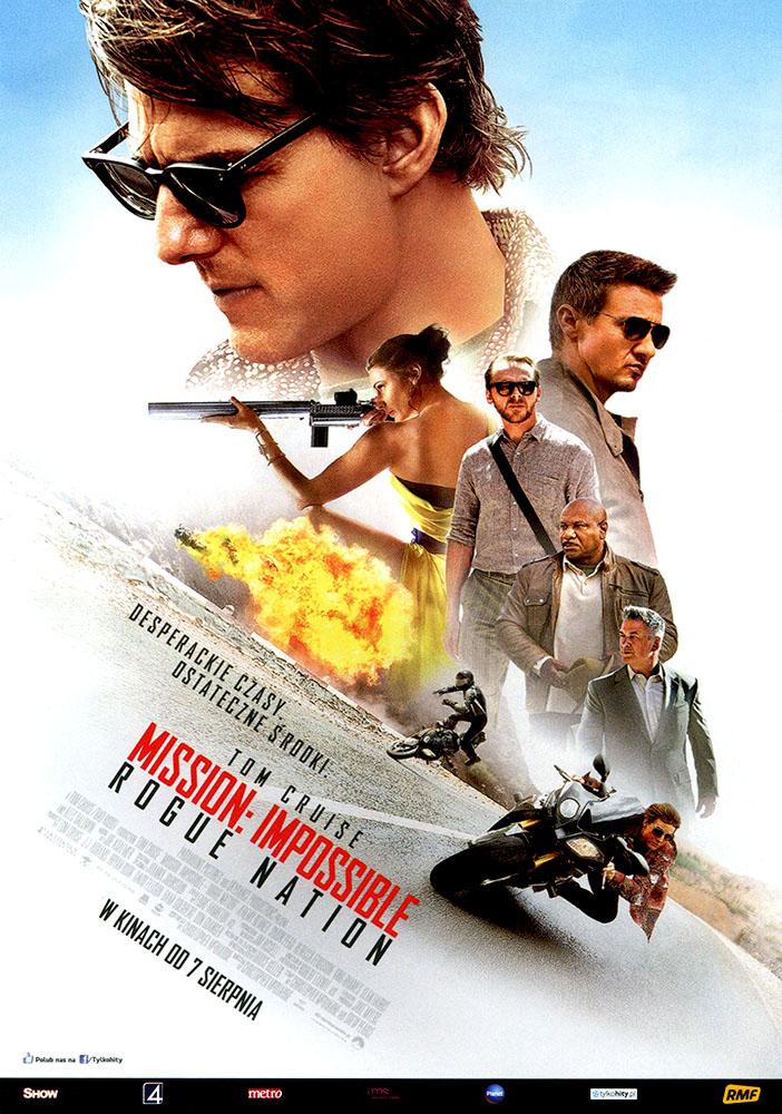 Ulotka filmu 'Mission: Impossible - Rogue Nation (przód)'