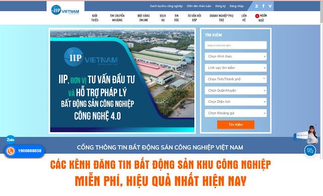 Kênh đăng tin bất động sản công nghiệp miễn phí, uy tín tại Việt Nam